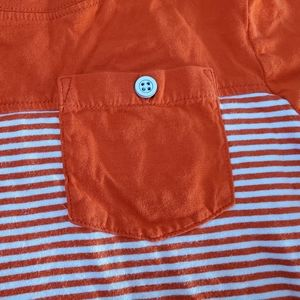 Crazy 8 striped pocket t-shirt with button